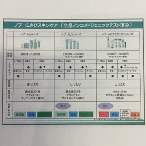ノブシリーズ比較表