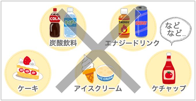 肌に悪い食べ物 砂糖