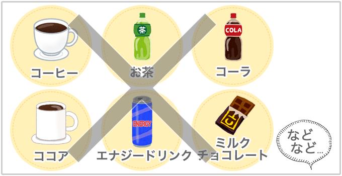 肌に悪い食べ物 カフェイン
