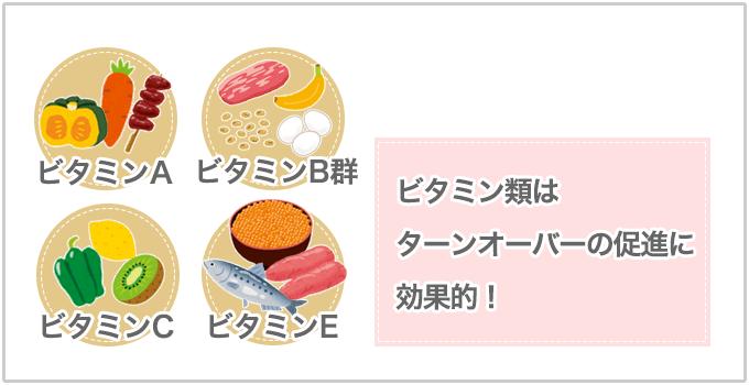 ターンオーバー ビタミン