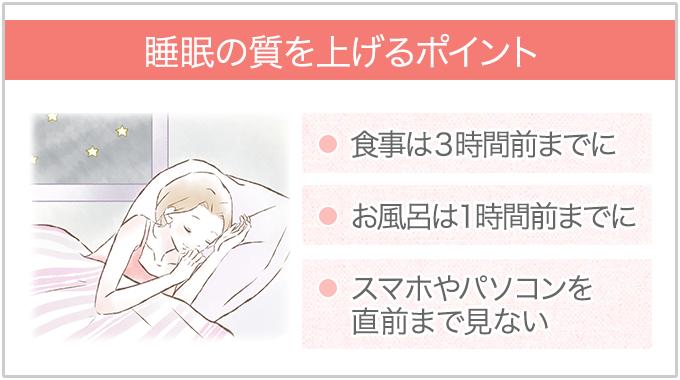 睡眠の質をあげる方法
