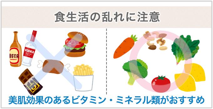 食生活の乱れに注意