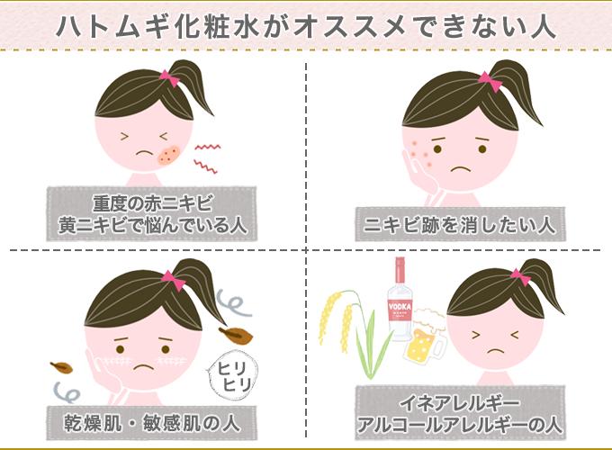 ハトムギ化粧水がおすすめできない人