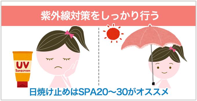 いちご鼻 UVケア