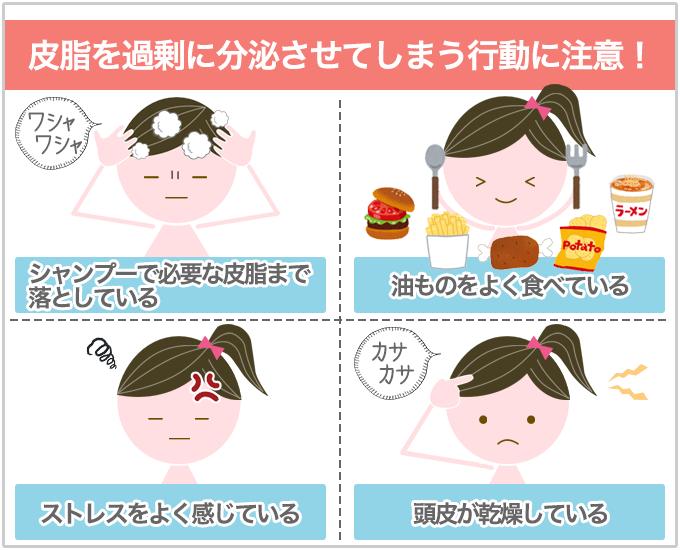 頭皮ニキビ 皮脂分泌