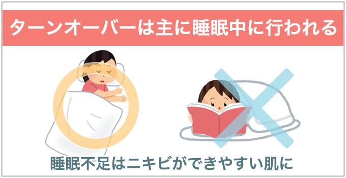 睡眠 ターンオーバー