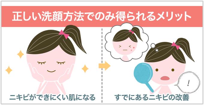 洗顔方法 正しい洗顔 メリット