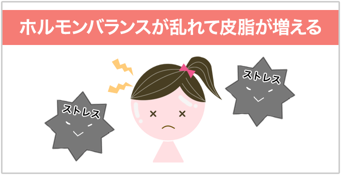 ストレスニキビの原因 ホルモンバランスの乱れ