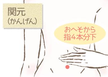 ホルモンバランスを整えるツボ(関元)