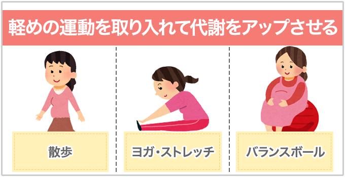 妊娠ニキビ 軽めの運動