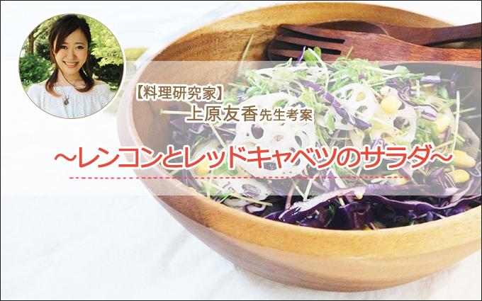 レンコンとレッドキャベツのサラダ【大人ニキビくん限定美肌レシピ】