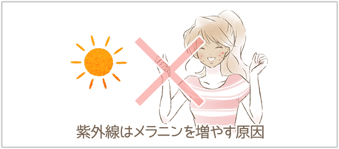 赤ニキビ跡を悪化させる行為:日焼け