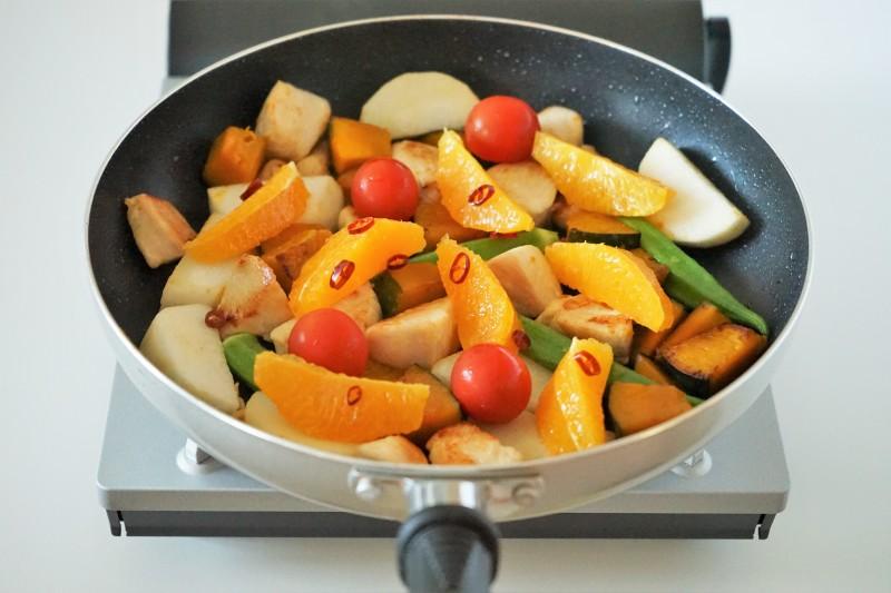 鶏肉と彩り野菜のグリルオレンジマリネ 味い付け